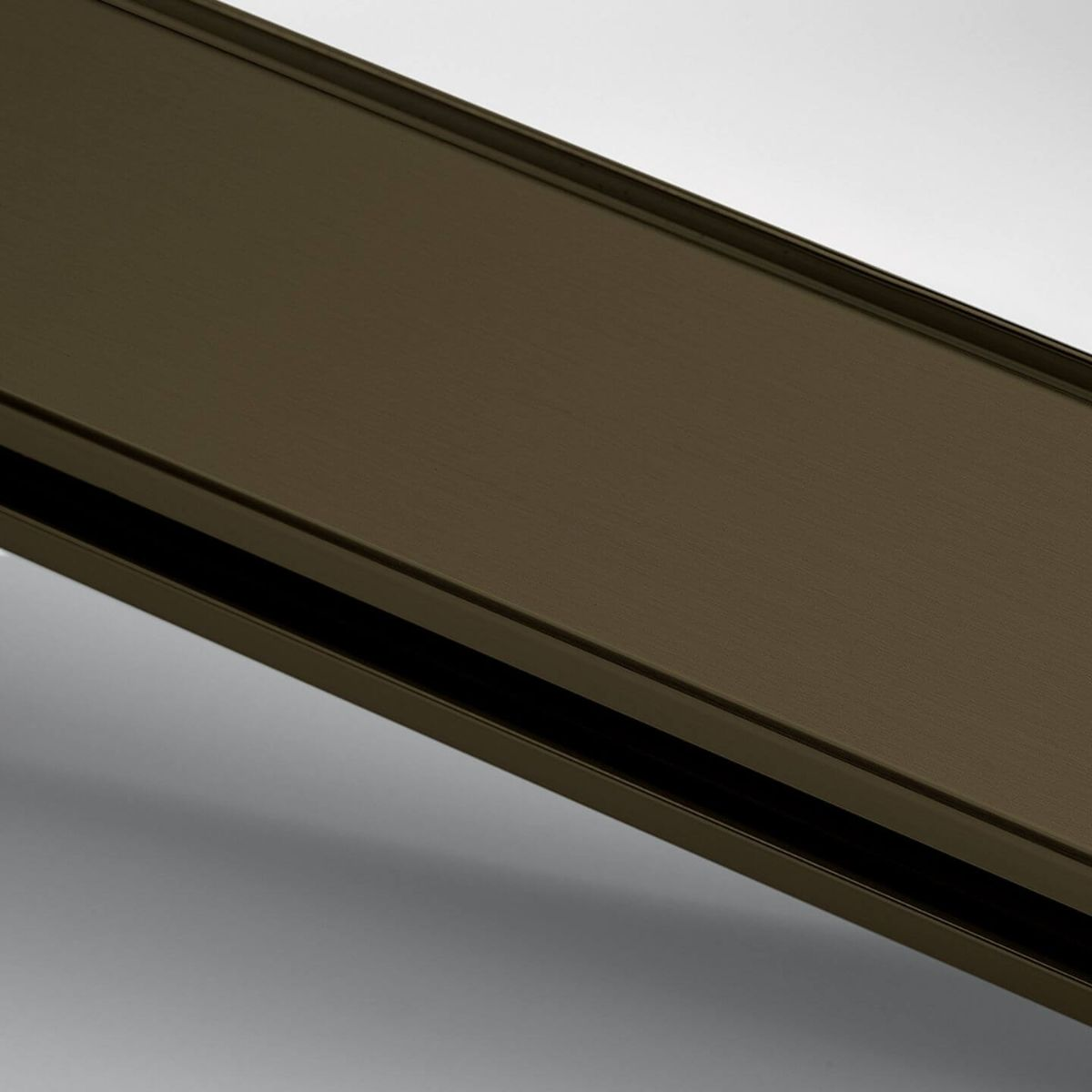 Finish anodized aluminum bronze for glass wall
