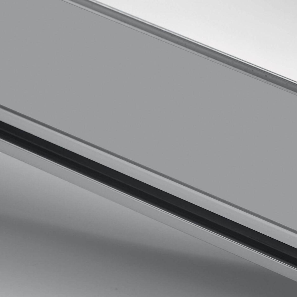 Anodized aluminium finish for glass walls