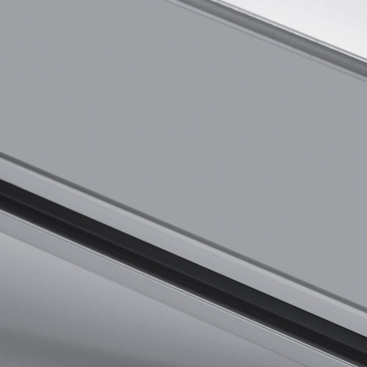 Finish aluminium grey ral 9006 for glass wall
