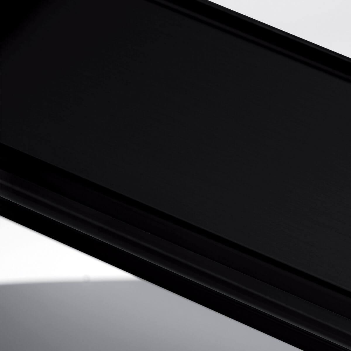Finish aluminium black ral 9005 for glass wall