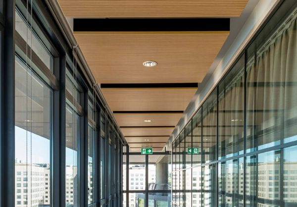 Wooden partition walls and glass company Oracle - Evolvinwall