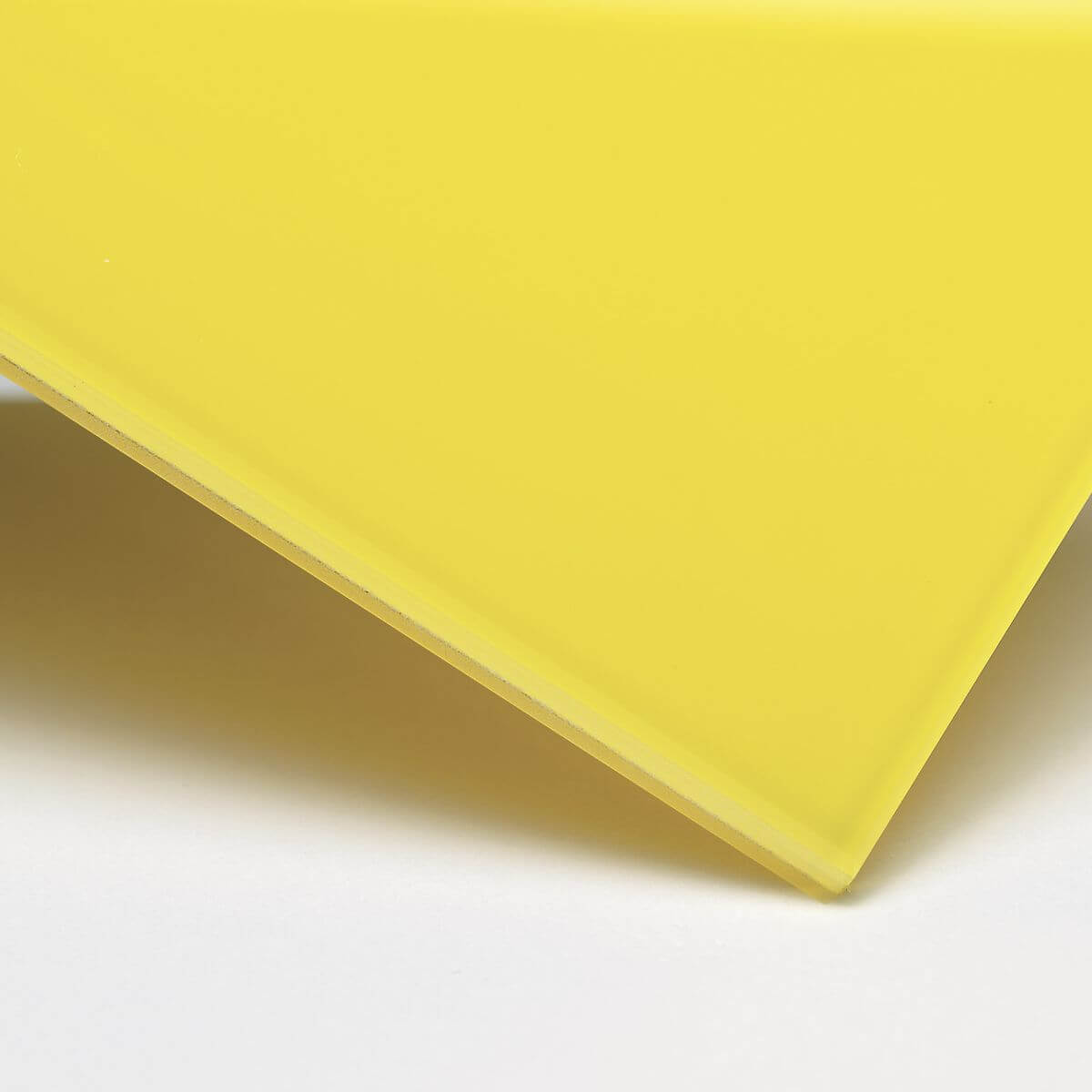 Finish: Glass with opaque yellow inner film