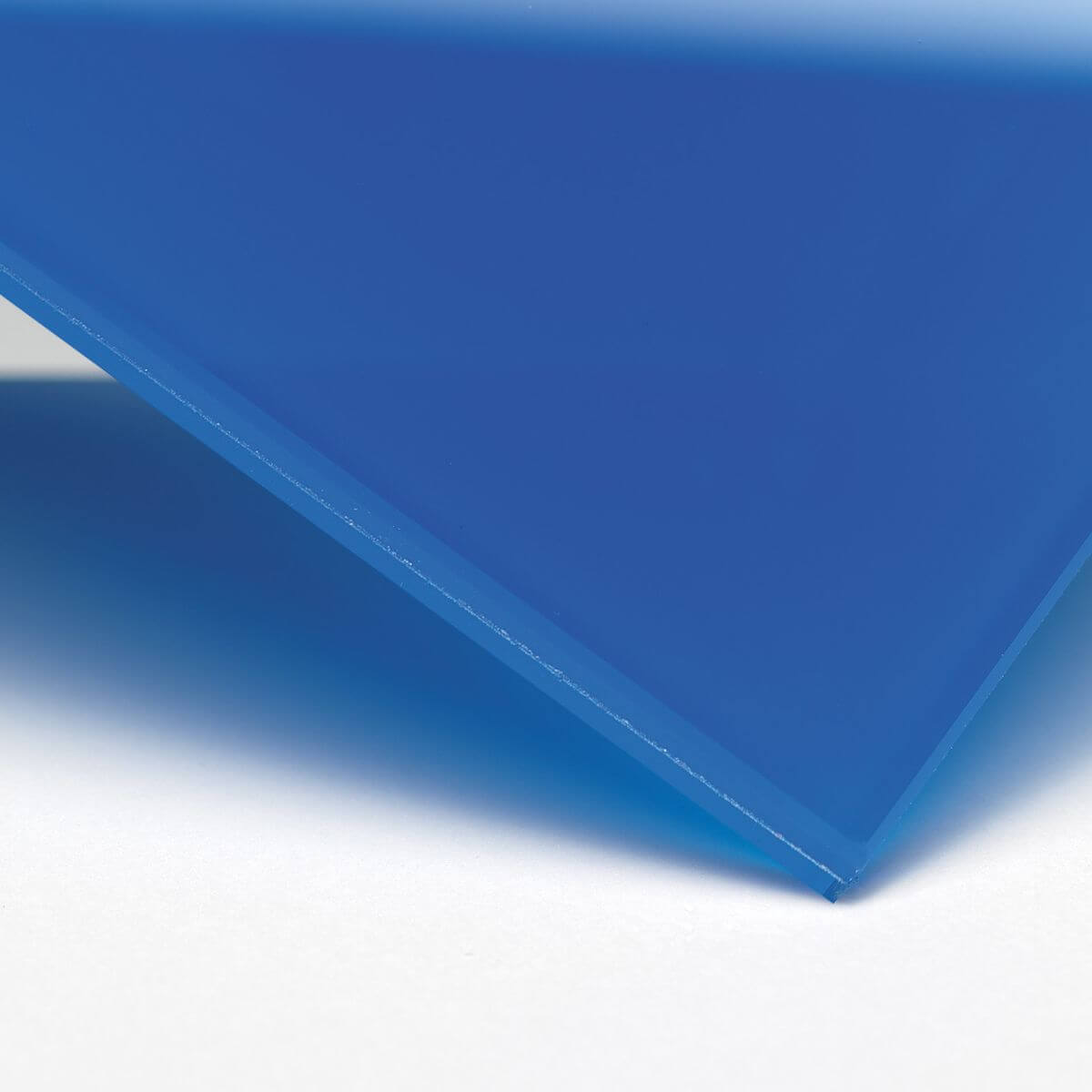 Finish: Glass with opaque blue inner film